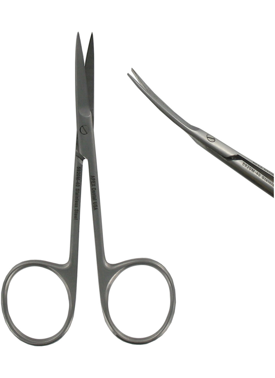 Gum Scissors Iris Curved Micro, Dental USA